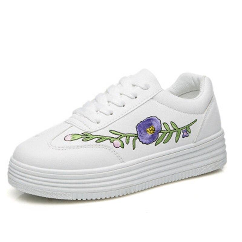 2017 Primavera Nueva Venta Caliente Blanco Mujer Zapatos Tenis Femenino Zapatos