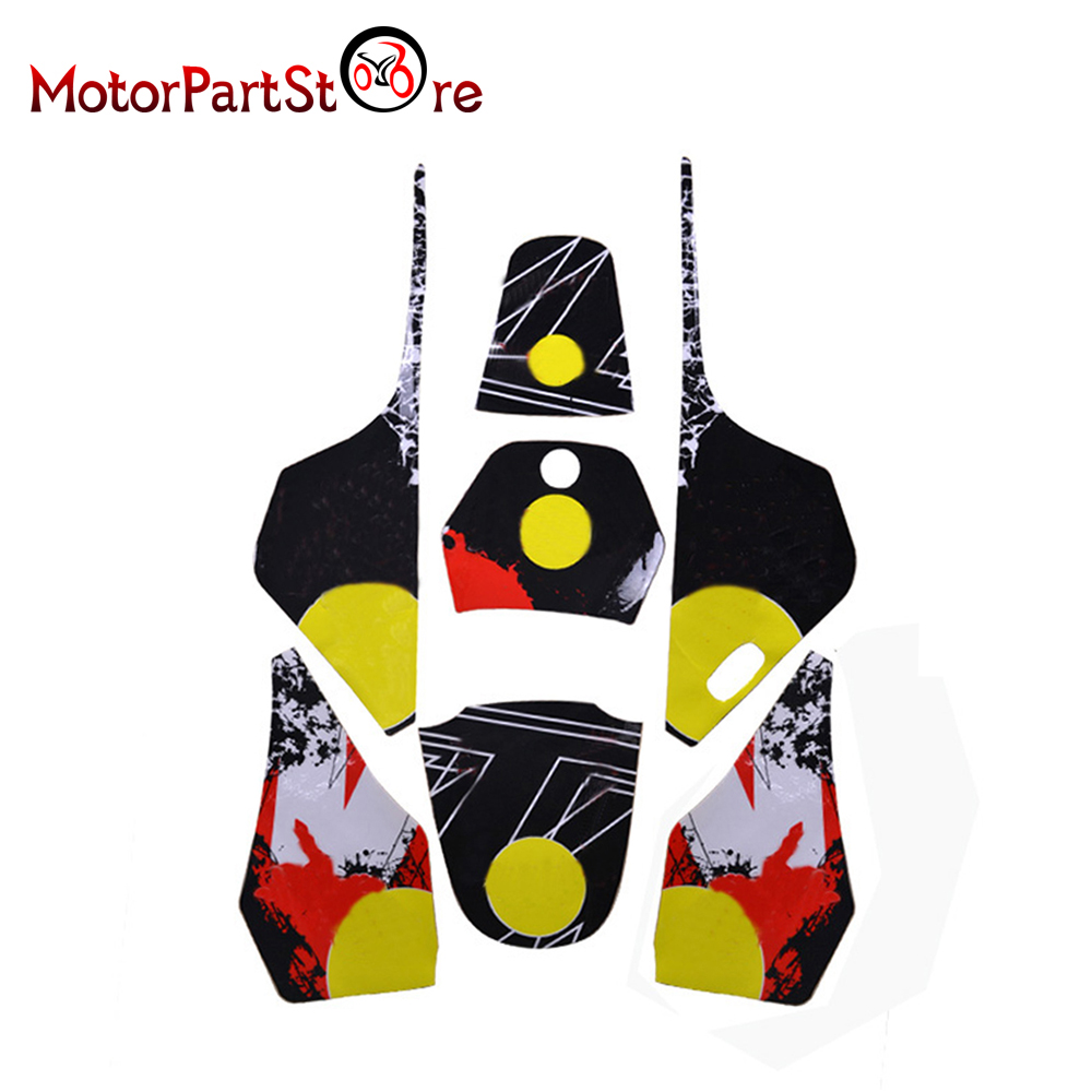 Racing 3M Graphics Kit Calcomanías Pegatinas para Yamaha PW80 PW 80 Motocicleta Dirt Pit Bike D10