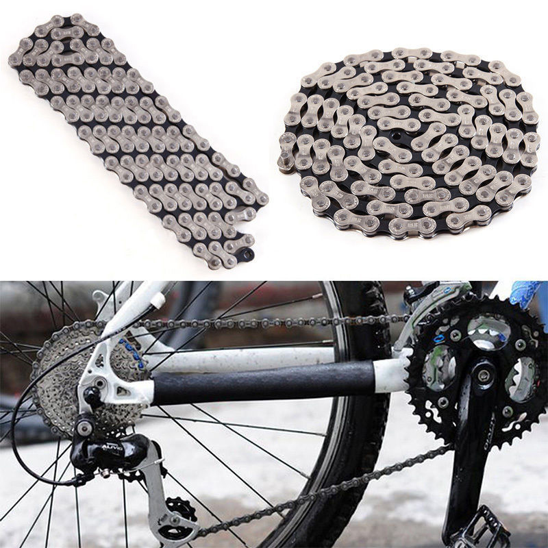 11 Speed Bike Chain 116 Links Stainless Steel Bicycle Chain and 4 Pairs Bicycle Missing Link for 11-Speed Chain Bike Replacement and Repair