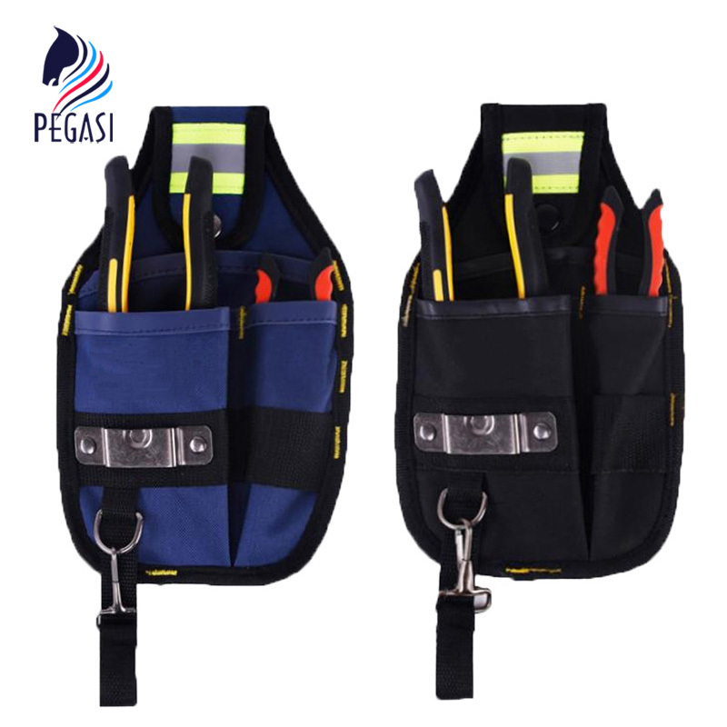 PEGASI Strong Oxford Cloth Tool Bag And Thicken Design Wear Waterproof Electrician Wide Tool Belt Holder Kit Pockets