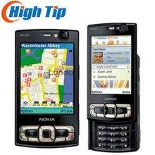 Nokia N95 разблокированный GSM 3g мобильный телефон 2,6 дюймов или 2,8 дюймов(8 Гб встроенной памяти) четырехдиапазонный 5MP wifi gps 1 год гарантии