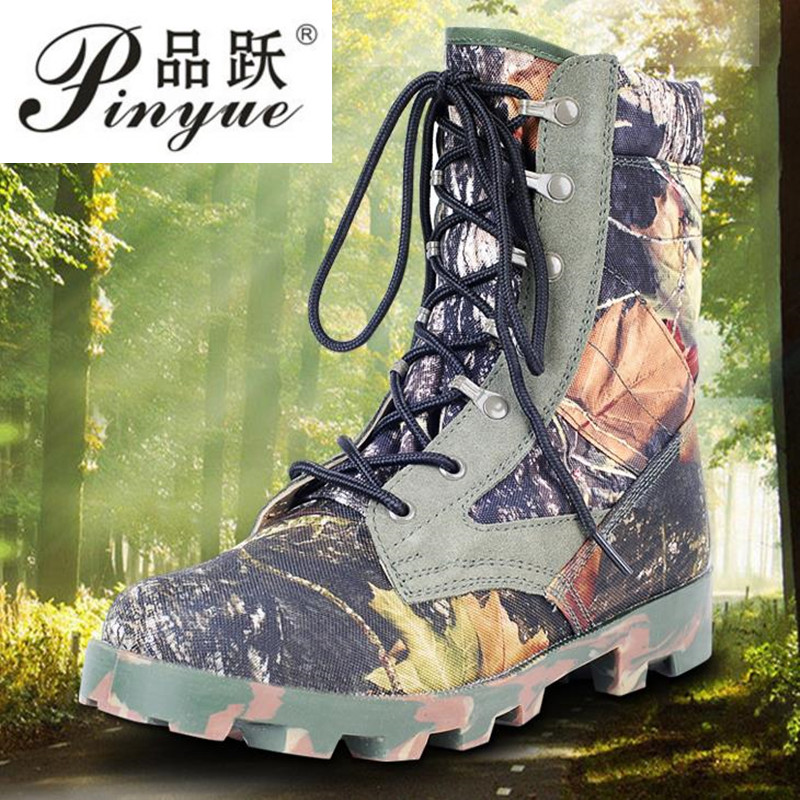 2018 Men's Outdoor High Top Army Combat Boots Shoes Men Military Tactical Desert Boots camouflage combat boots outdoor tactical boots army combat military boots snow training boots men s hunting sports hiking boots desert camouflage shoes