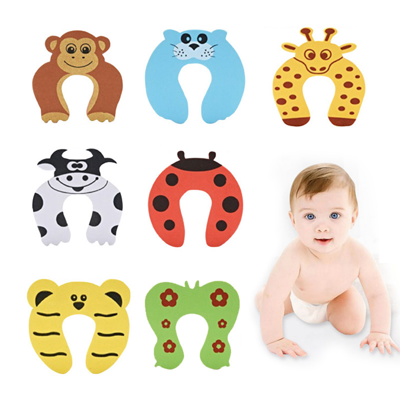 5Pcs Safety Card Stopper Clip Finger Safety Guard Care Products Baby