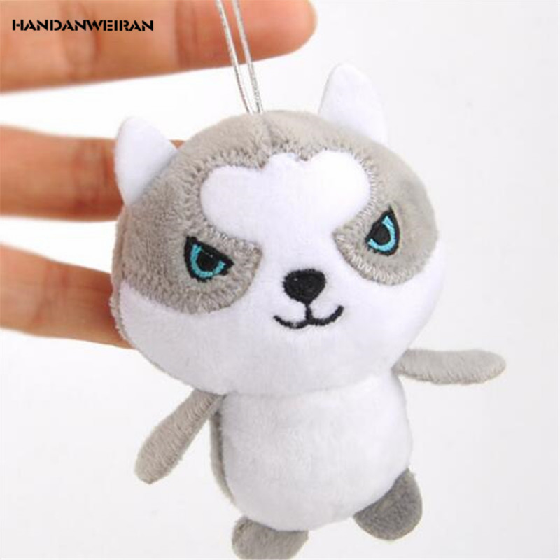 HANDANWEIRAN 1Pcs Cute Dog Stuffed Toys PP Cotton New cute lovely 10CM Pendant  Explosion Gift Plush Toy Doll For Kid's Party