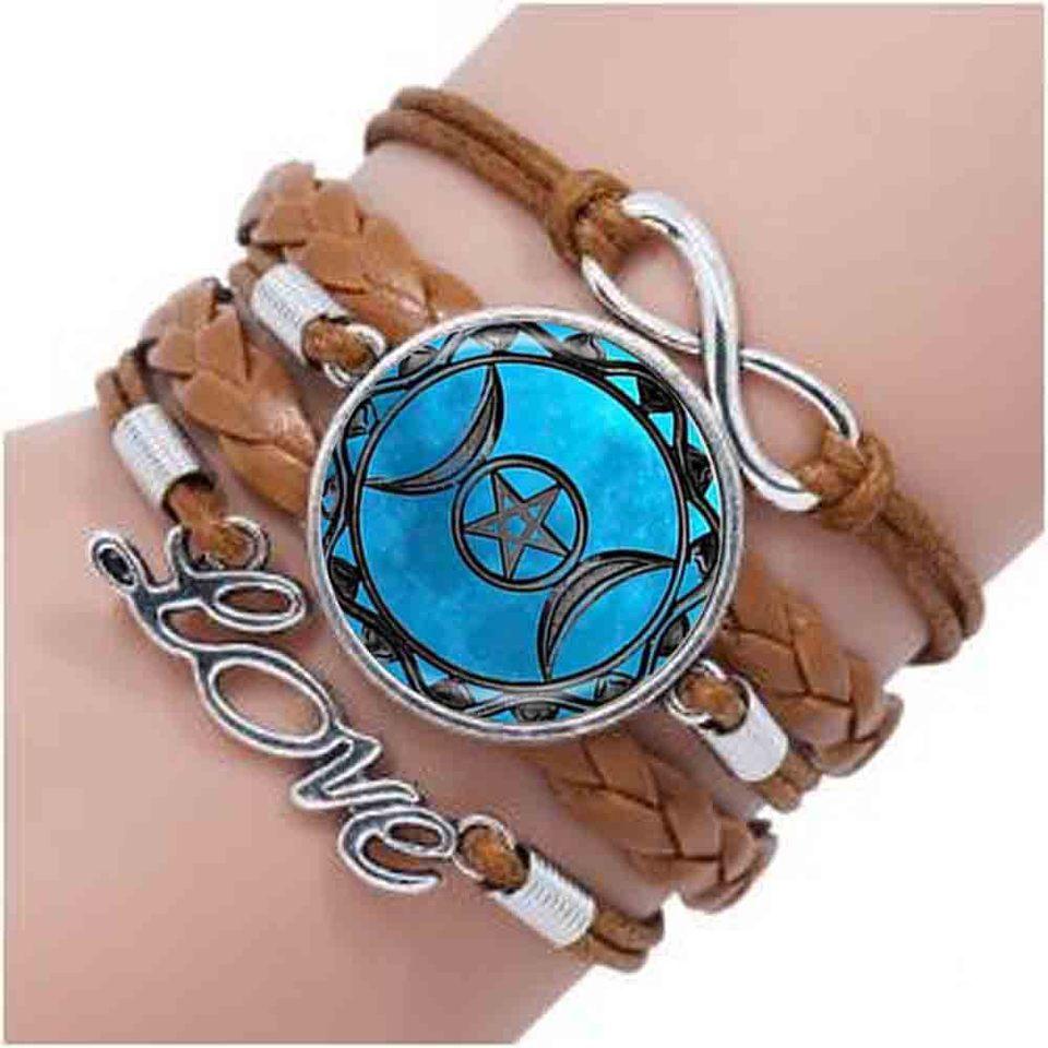 Triple Moon Dess Bracelet Pentagram