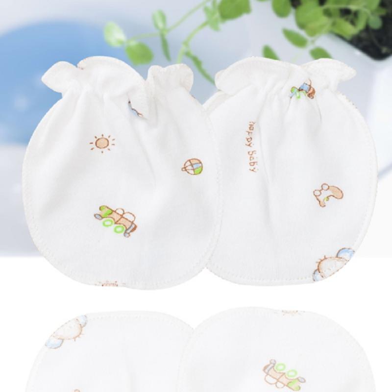 2Pairs Baby Mittens Bite Cotton Infant Kids Stuff For Newborns Accessories Anti-Biting Fingers Scratch The Face Random