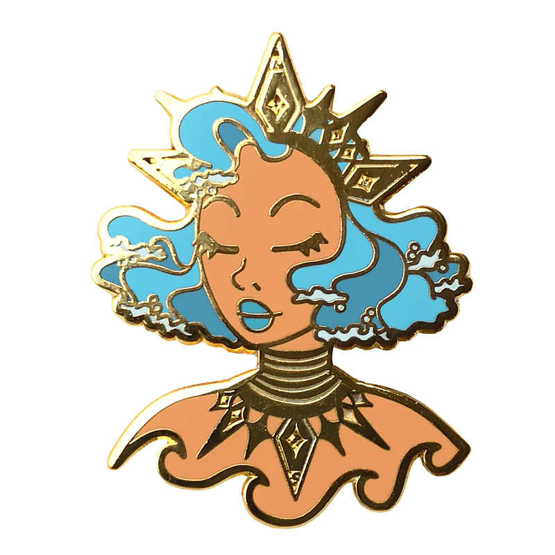 Lady of the Sea Enamel Pin