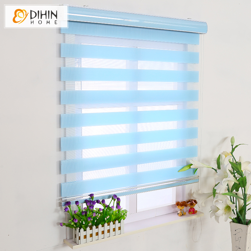 free shipping blackout curtains zebra blinds double layer roller blinds for room window customized size high quality