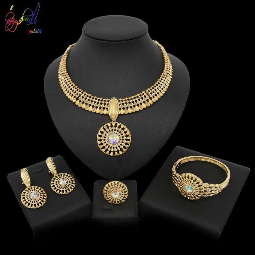 Yulaili <font><b>2019</b></font> New Arrival Europe And America <font><b>Jewelry</b></font> Design Simple And Stylish Necklace Four <font><b>Sets</b></font> <font><b>For</b></font> Women Wedding Occasion image