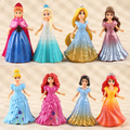 8 pçs/set O collention Elsa & Anna Princesa boneca PVC Modelo Figura de Ação Brinquedos Crianças Boneca