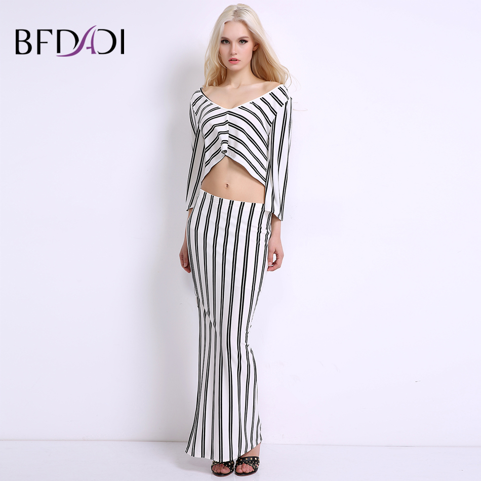BFDADI 2019 Summer Women Fashion Sexy Backless Casual striped dress - Women's Clothing