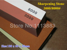 Janpanese Sapphire 3000/8000# Grit Double Side Corundum Knife Sharpening Whetstone Water Stone For Sharpening цена