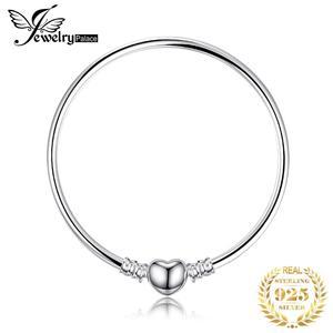 Image 1 - Bijoux palace Original 925 en argent Sterling chaîne bracelet Bracelets pour femme amour coeur Fit perles breloques argent 925 original bricolage