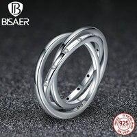 925 Ayar Gümüş Zirkon Daire Damlacıkları Istiflenebilir Swirling Simetri, temizle CZ Kadın Moda Yüzükler Düğün Takı WEU7627
