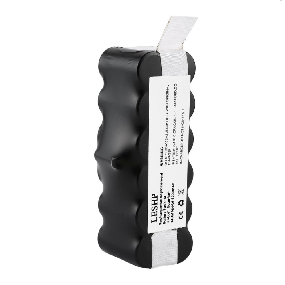 Accessories for irobot roomba 14.4V 6200mAh Battery Capacity NI-MH Battery for iRobot Roomba Vacuum Cleaner 500 600 700 800 Ser for irobot roomba 500 aerovac vacuum cleaner accessory kit includes battery side brush ni mh 14 4v