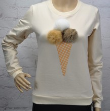 Taovk новые модные российские стиль женщины Толстовка 5 видов цветов мороженое с Круглый воротник с длинными рукавами Толстовка хеджирования