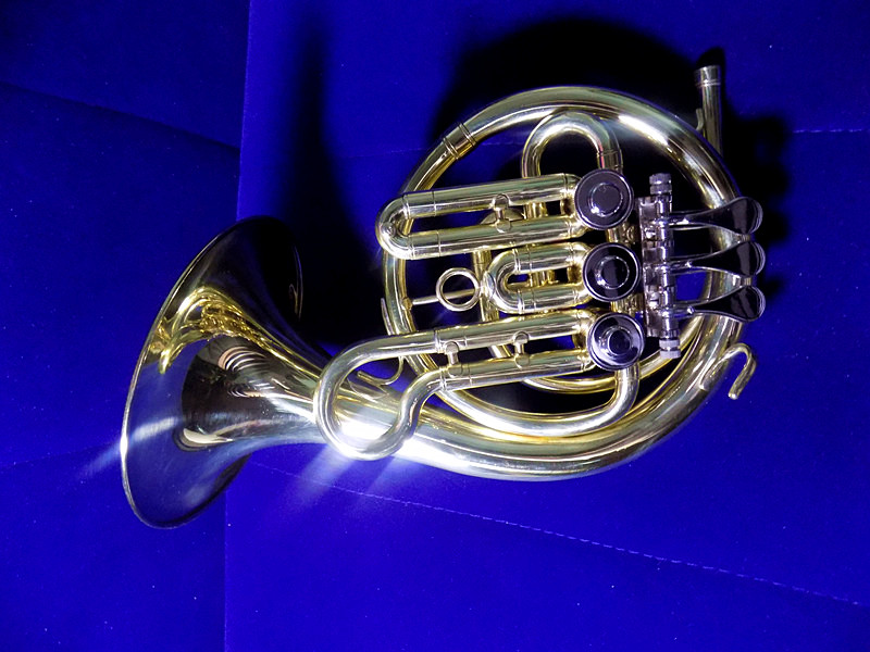 Bb Rotary Post Horn Brass Body With Bag and Stand Brass Musical instruments professional цена