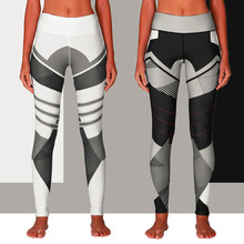купить New Women Casual Yoga Sport Geometric Printed Summer High Stretch Skinny Leggings Trousers Bottoms по цене 723.1 рублей