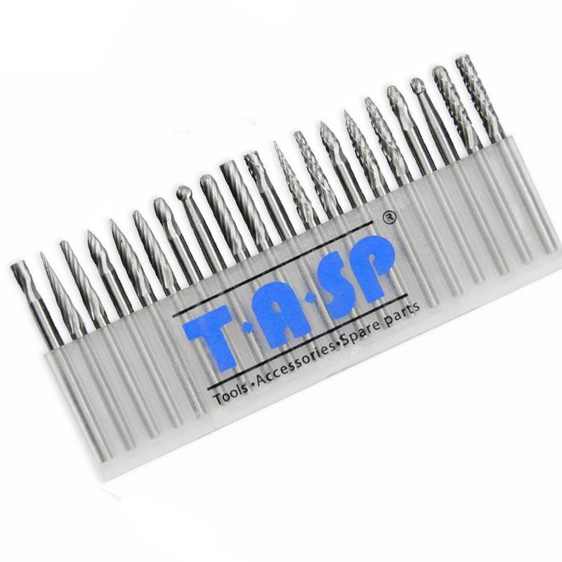 Brocas de carburo de tungsteno de 20 piezas Mini brocas de fresado de fresado de tallado para Dremel Rotary Tool Cutter Accesorios Set