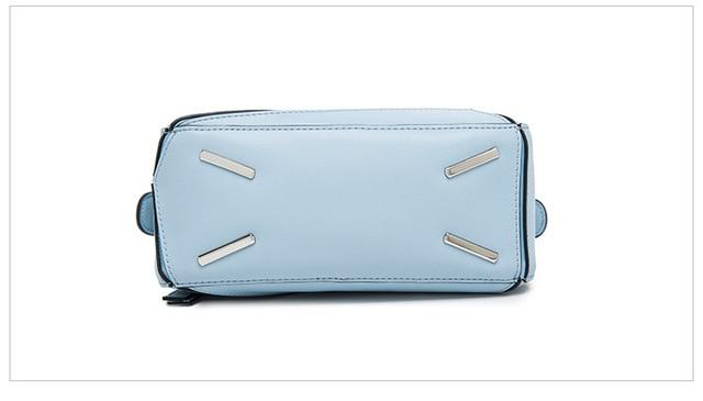 New 2017 Designer Cowhide Tote Puzzle Bag Pillow Split Leather Handbags Women Ladies Shoulder Messenger Crossbody Bags an335