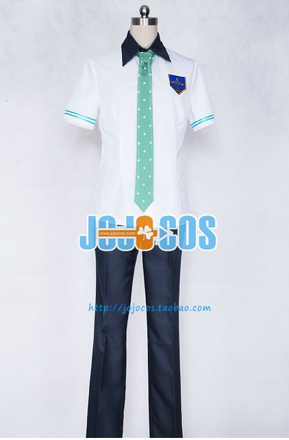 New Arrival Free ! Iwatobi Swim Club Nanase Haruka School Uniform Short Cosplay Costume