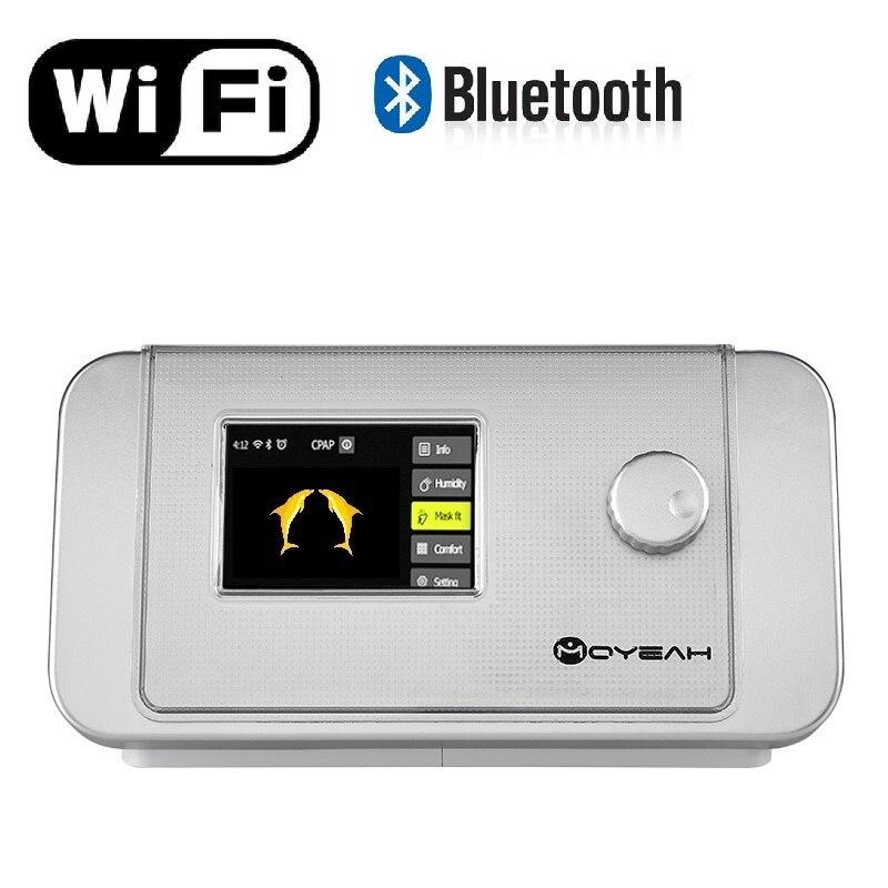 Máquina de BiPAP BPAP de nivel BiPAP automático mosí con Wifi y Bluetooth para el ventilador del dispositivo de terapia OSA Copd del paciente con humidificador