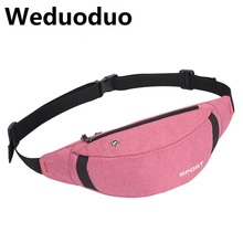 купить Weduoduo Women Fanny Bag Men Casual Waterproof Waist Pack Bag Pouch Travel Hip Bum Bag Fashion Nylon Belt bag дешево