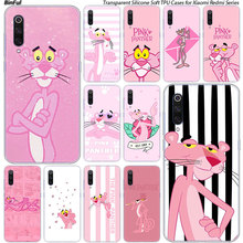 Cute cartoon Pink Panther Silicone Case For Xiaomi