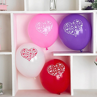 2017 Rushed Baloons 200pcs 12 Inch Lovely Round Heart Wedding Balloons Birthday Decoration Marriage Latex Valentine's Day Ball