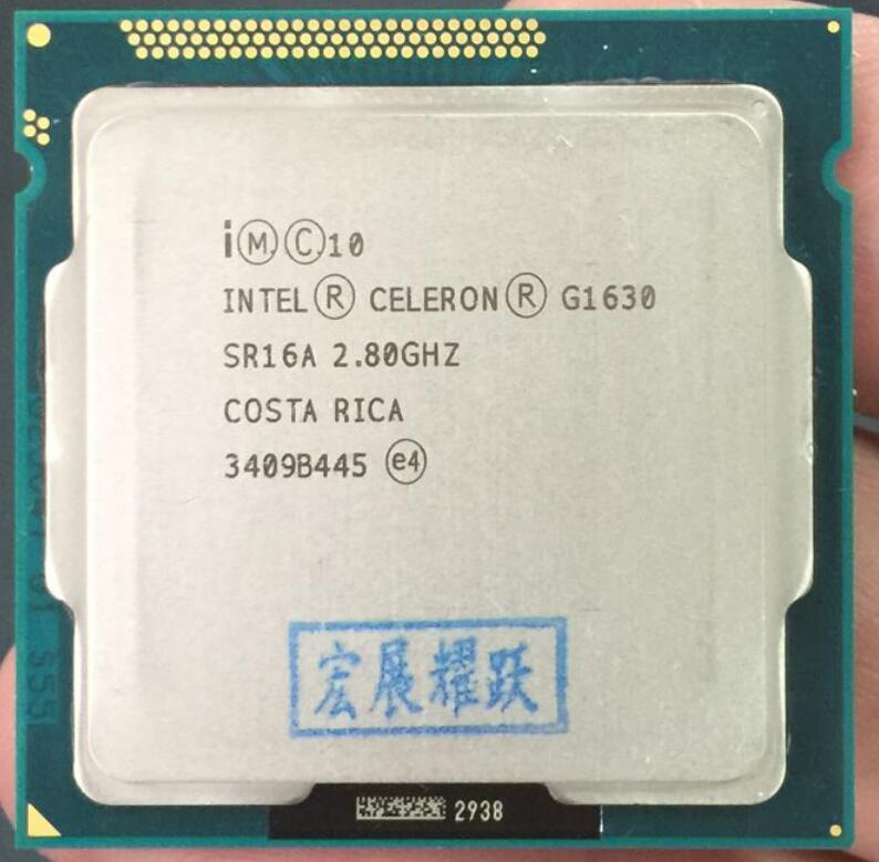 PC Computer  Intel Celeron Processor G1630 (2M Cache, 2.80 GHz) Dual-Core CPU LGA 1155 100% Working Properly Desktop Processor