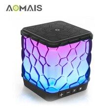 7 AOMAIS Mini Bluetooth Speaker Luz LED Cor Mudar Som Superior Reforçada Bass Portable Speaker Sem Fio para o Partido Home