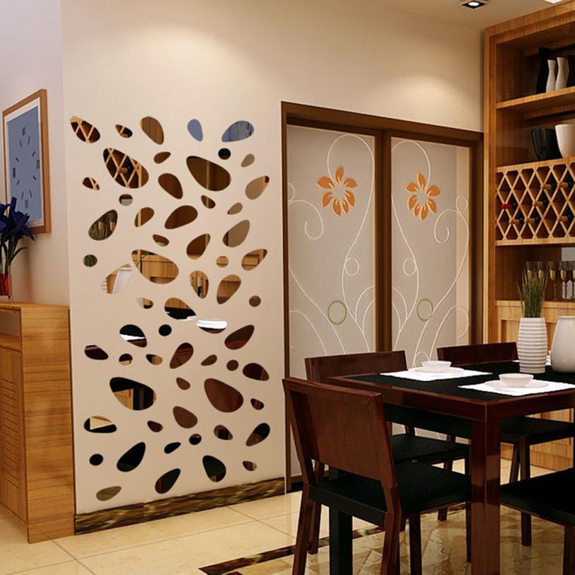 3d Mirror Wall Stickers Home Decoration Accessories Bedroom Decor Acrylic Mirrored Decorative Sticker Adesivos De Parede