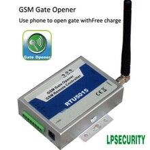 Wireless GSM gate opener / door opener +Caller ID access cotnrol + remote gate control+64 users (RTU5015)+GMS door Alarm