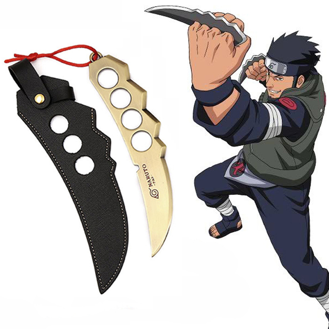 Asuma & Kakashi Kunai Knife With Leather Case (3 Models)