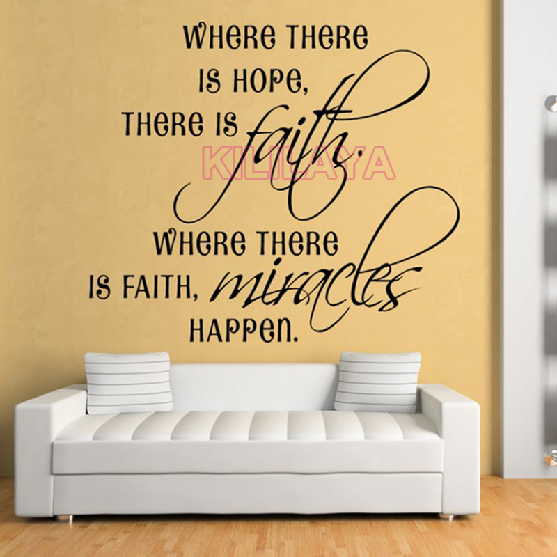 Christian Where There Is Hope Vinyl Wall Sticker Wall Decals Religious Wall  Art For Living Room Home Decor House Decoration In Wall Stickers From Home  ...