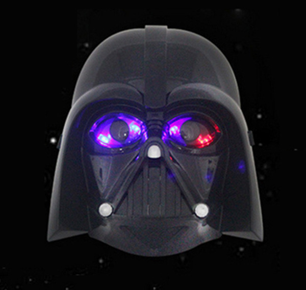 New Quality Cosplay Black Cool Star Wars Darth Vader Glowing Mask Eyes Makeup Toy For Kids