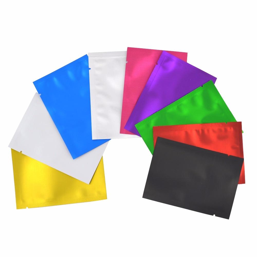 100 Pcs Matte Colorful Aluminum Foil Pouches Heat Sealable Bags Smell Proof Foil Bags Pouches,Foil Bags Free Shipping