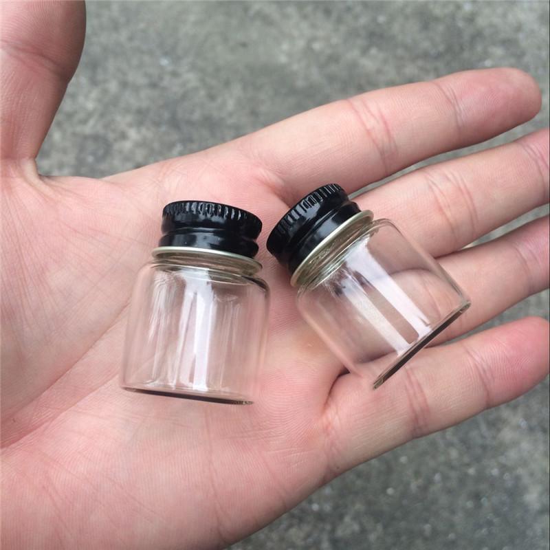 8ml Mini Glass Bottles With Metal Aluminum Screw Cap Small Glass Bottle Empty liquid container Vials Jar