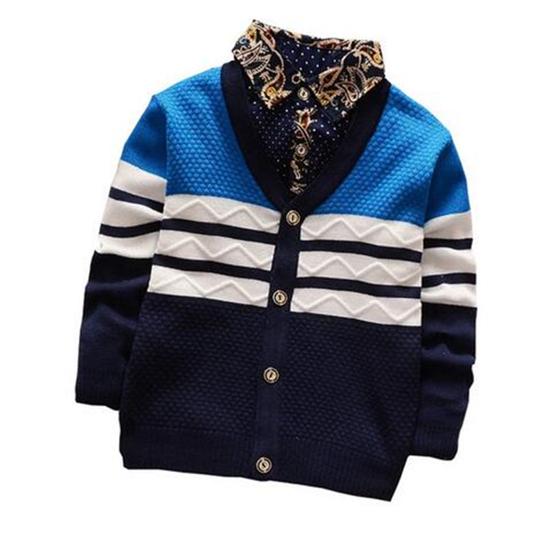 BibiCola Baby boy Sweater 2017 New Arrival Bebe Clothes Toddler Boys Cardigan Outwear Coat Spring Autumn Childrens Jumpers Top