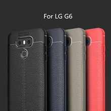 HATOLY For Capa LG G6 Case Soft Litchi TPU Rugged Back Case For LG G6 Cover For LG G6 Shockproof Phone G 6 Fundas 5.7 { аксессуар чехол brosco для lg g6 black lg g6 book black