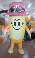 High quality yellow pencil Mascot Costume cartoon Adult Fancy Dress Party Halloween Costume Holiday special clothing