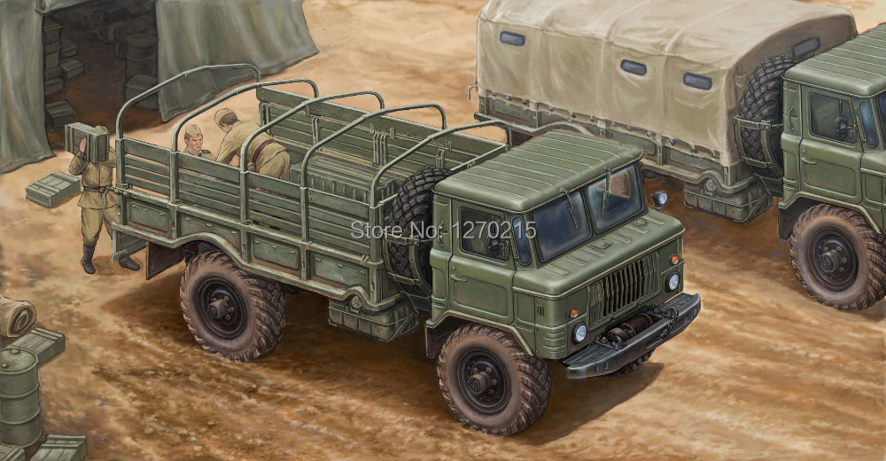 Trumpeter 1/35 Russian GAZ-66 Light Truck Plastic Model Kit 01016 trumpeter 01006 1 35 maz 537 last production