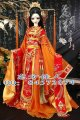 Hua Jian Meng Shi Orange Costume Tang Empress Ancient Chinese Hanfu Stage Clothing Sd doll tang suit hanfu doll Free Shipping