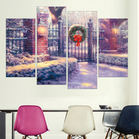 Countryside Canvas Picture Scenery Home Decor Wall Art Snow White Oil Painting Christmas Decorations For Home