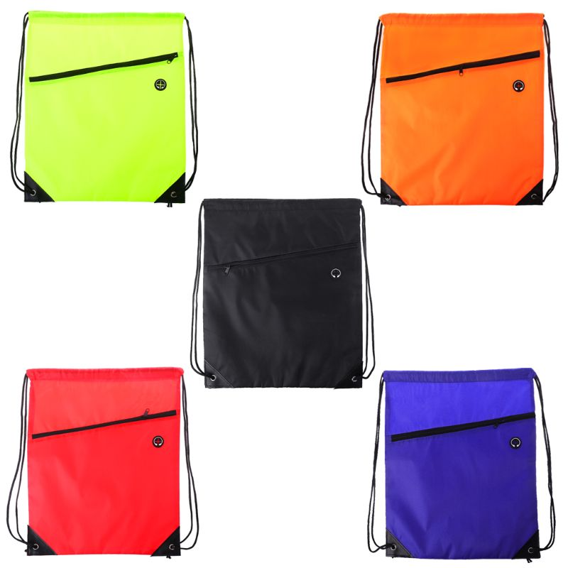 Very Strong Premium Quality Drawstring Backpack Gym Bag For Adults Teens. NO Logo School Kids PE Kit Bag, Perfect For Sports