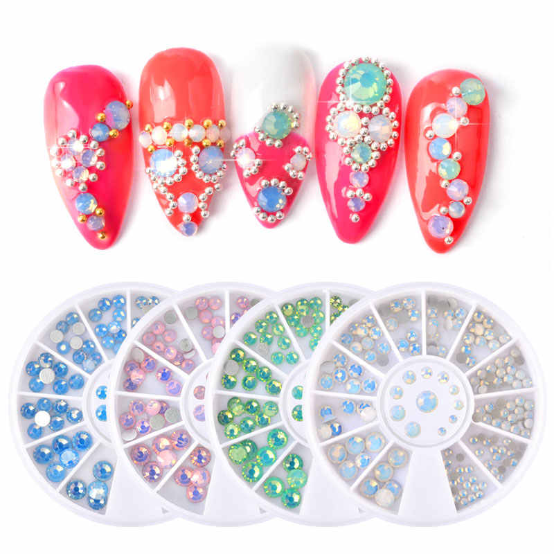 1box Multi Size SS4-SS20 Opal Nail Art Decoration Rhinestones Colorful  Crystal Glass Gems DIY 652be4017f7f