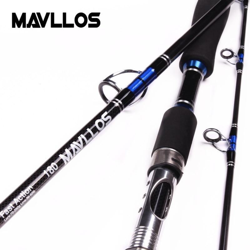 Mavllos Japan Guide Locken Gewicht 70-250g Meer Boot Jigging Angelrute 2,1 mt 3 Abschnitte Carbon salzwasser Spinning Angelrute