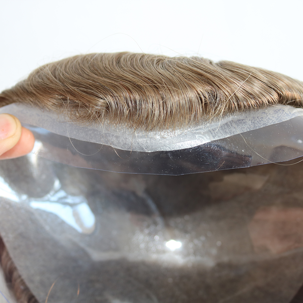 Eversilky Hairpieces For Men Natural Hair Men's Toupee Human Hair 10x8 Inch 0.03mm Ultra Thin Skin Hair Replacement System