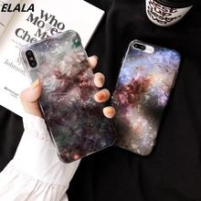 Elala Glossy Marble Case For iphone 7 XR Funny Pattern Glitter Silicone Back Cover iPhone X XS Max 6S 8 Plus