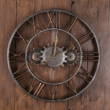 2016 Handmade 3D Round Vintage Gear Wall Clock home living room ornaments creative metal quartz clock джемпер michael kors michael kors mi186emdrdc9